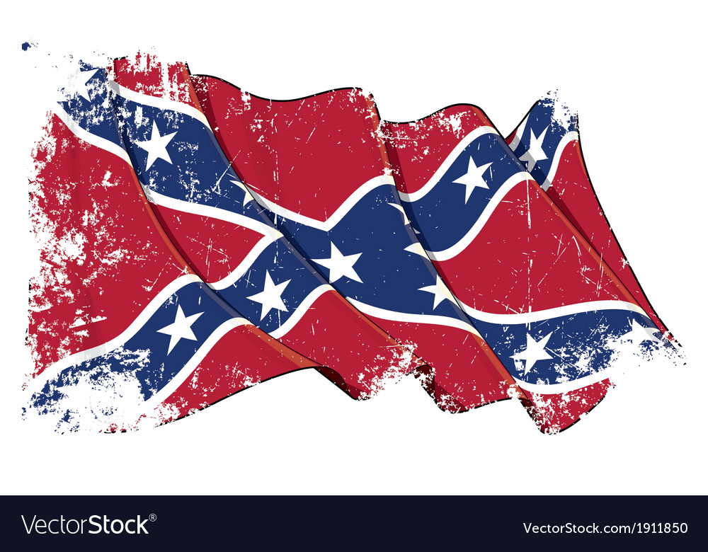 Confederate rebel flag grunge vector | Price: 1 Credit (USD $1)