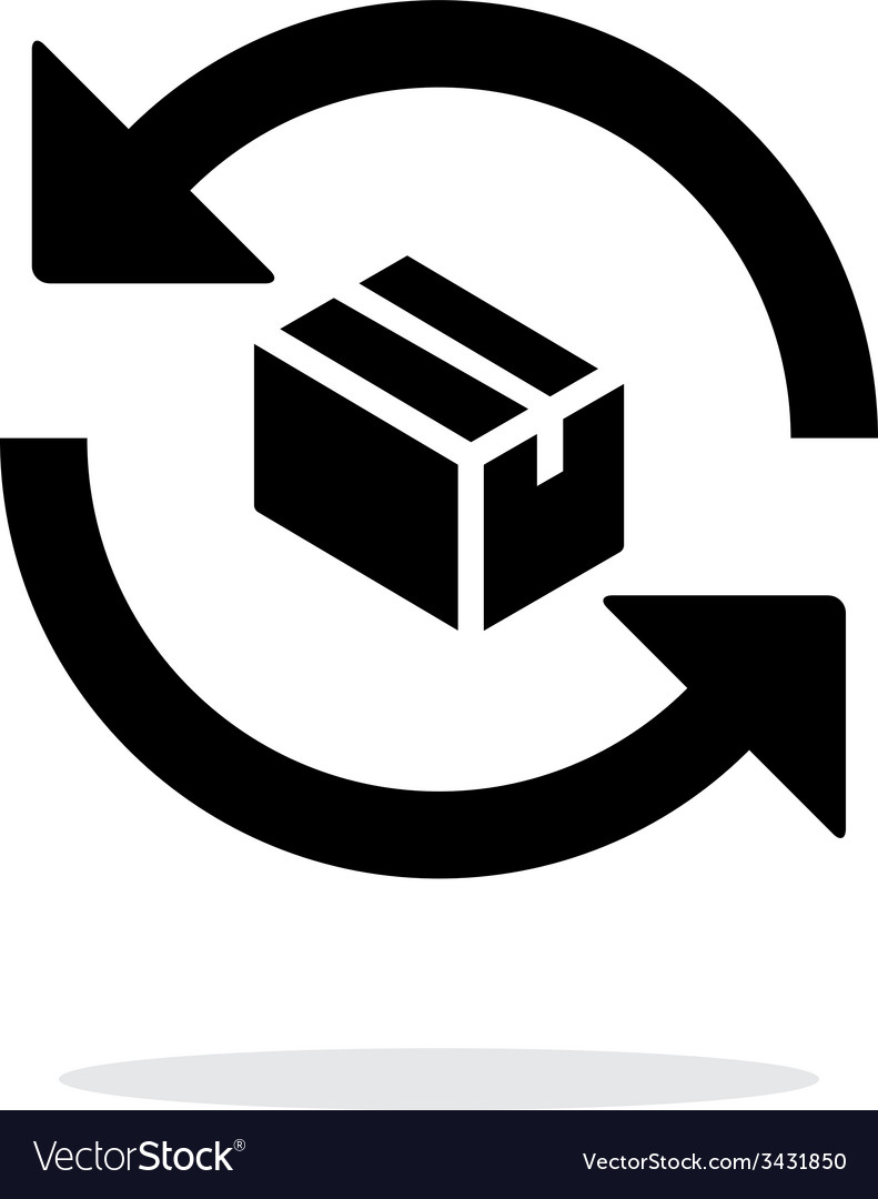 Exchange box simple icon on white background vector | Price: 1 Credit (USD $1)