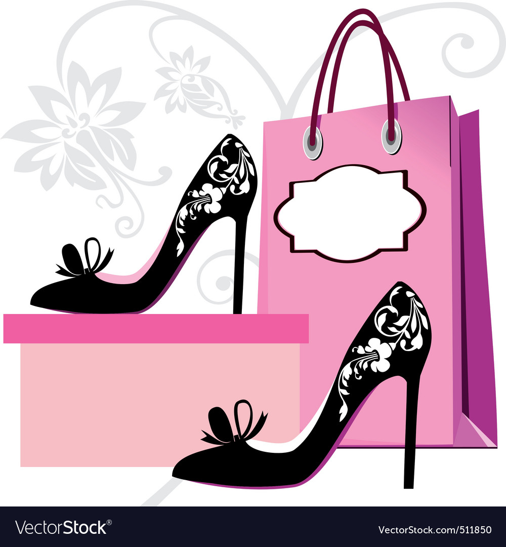 Fashion shoes shopping vector | Price: 1 Credit (USD $1)