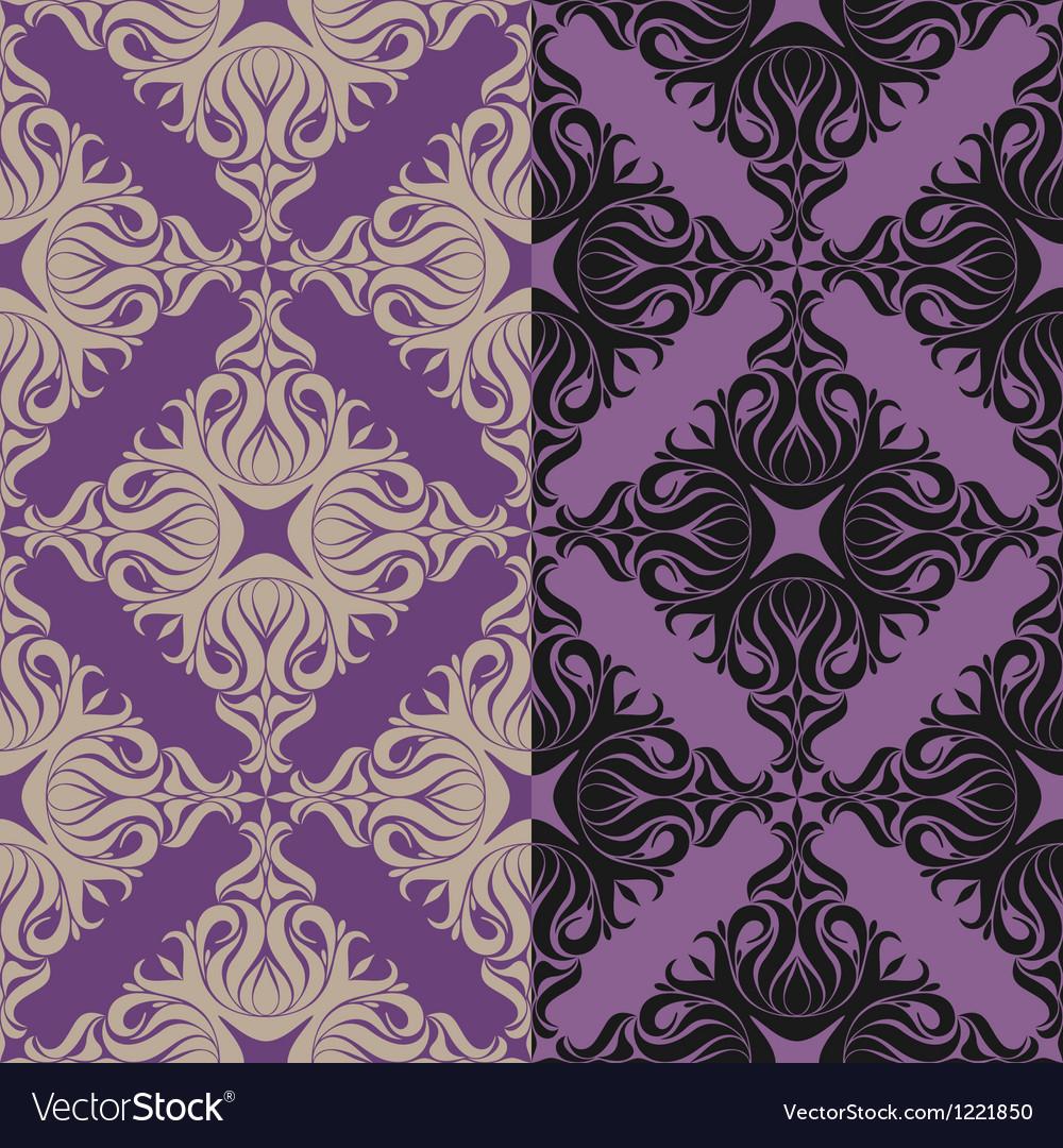 Floral pattern vintage baroque vector | Price: 1 Credit (USD $1)