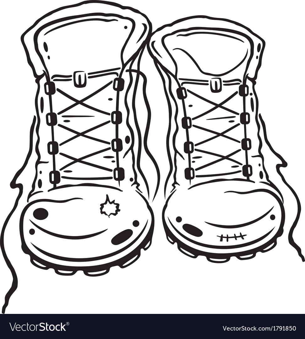 Hiking boots vector | Price: 1 Credit (USD $1)