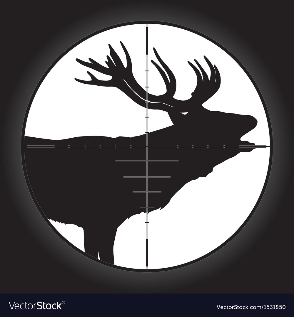 Hunter sniper scope vector | Price: 1 Credit (USD $1)