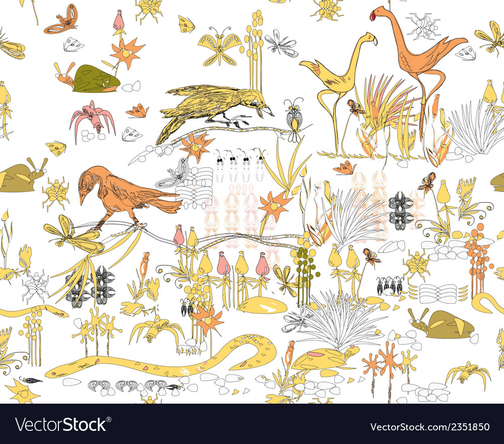 Jungle life vector | Price: 1 Credit (USD $1)
