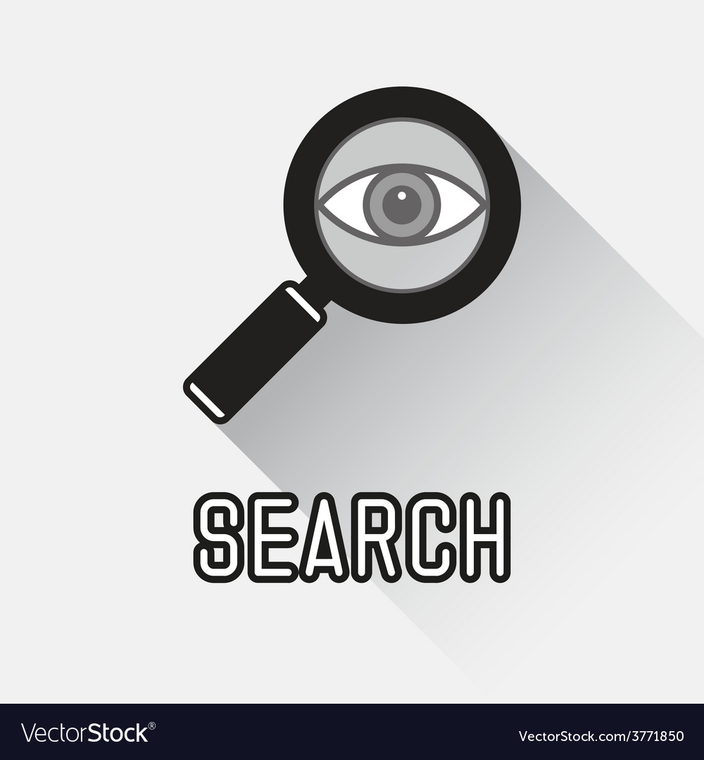 Magnifying glass with eye vector | Price: 1 Credit (USD $1)