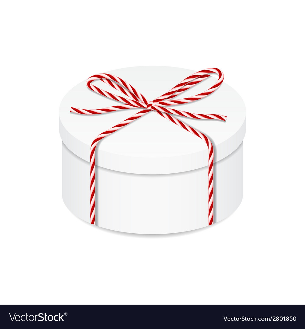 Present box with red twine bow vector | Price: 1 Credit (USD $1)