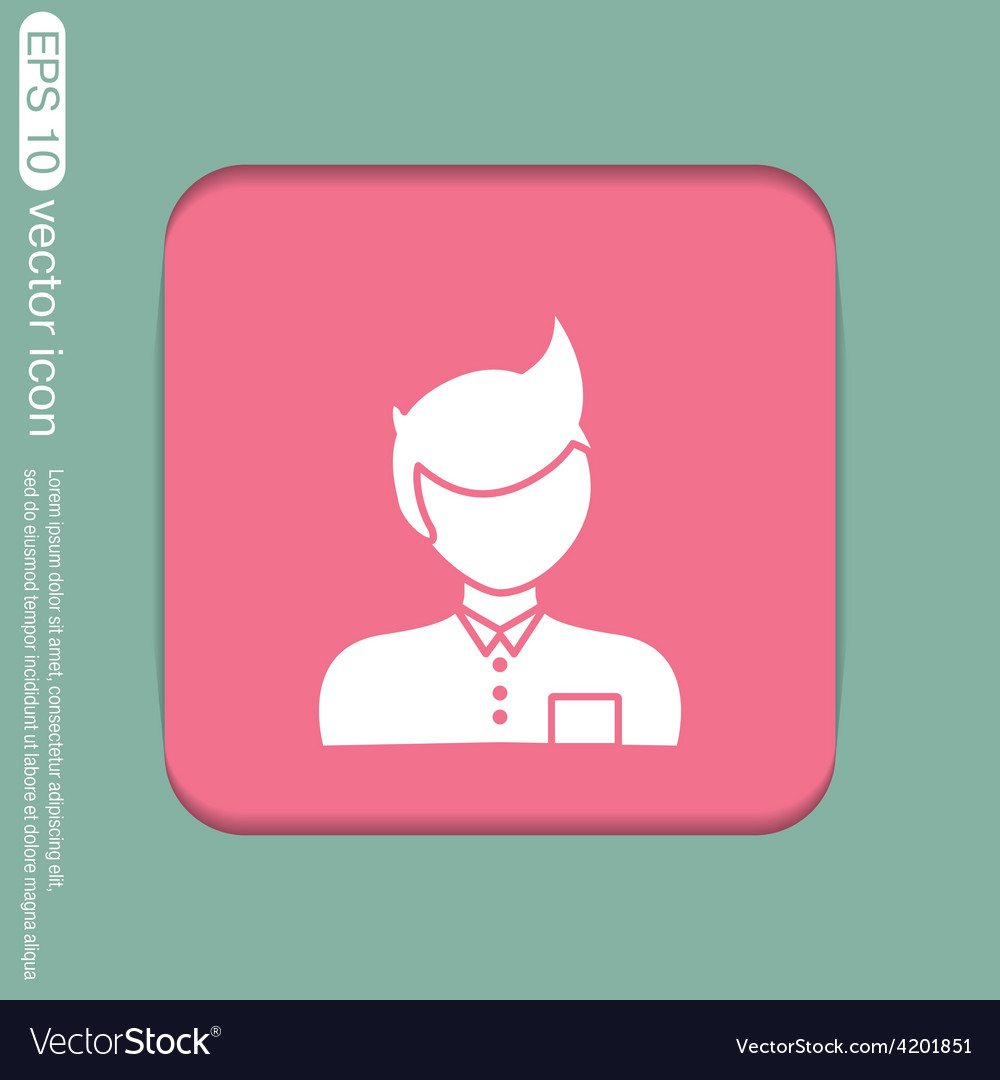 A male avatar picture a man manager or an office vector | Price: 1 Credit (USD $1)