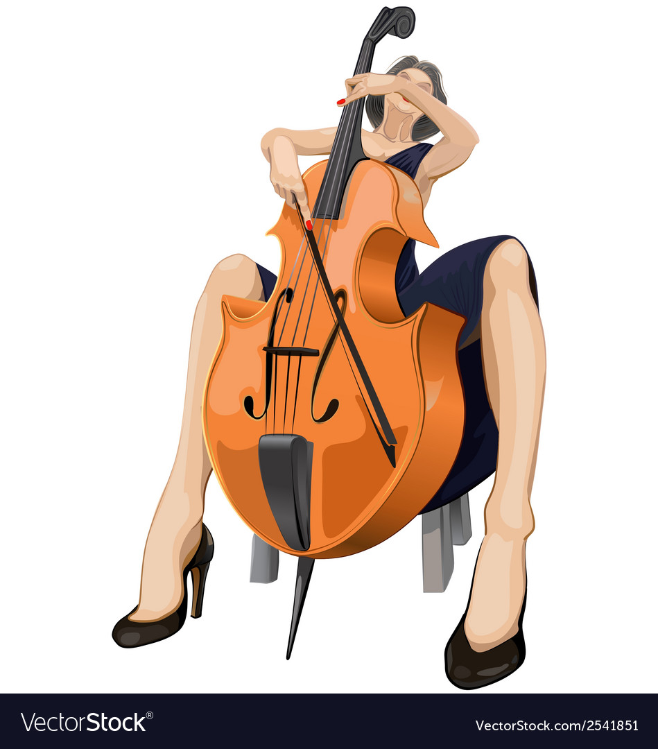 Cellist vector | Price: 1 Credit (USD $1)
