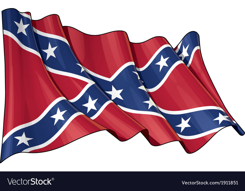 Confederate rebel flag vector | Price: 1 Credit (USD $1)