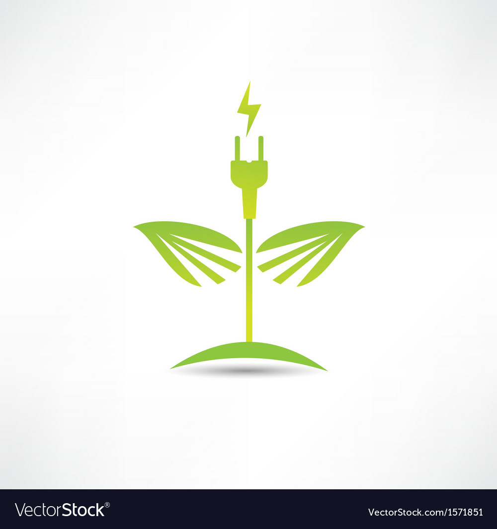 Eco green energy icon vector | Price: 1 Credit (USD $1)
