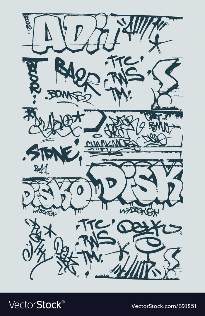 Graffiti design elements vector | Price: 1 Credit (USD $1)
