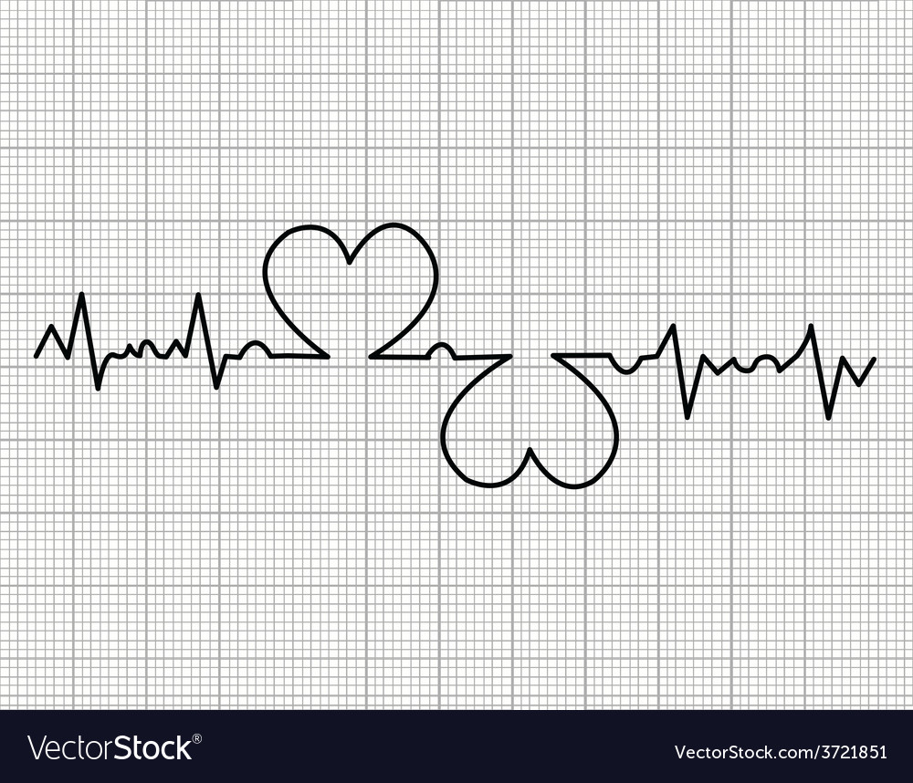 Heart beats cardiogram vector | Price: 1 Credit (USD $1)