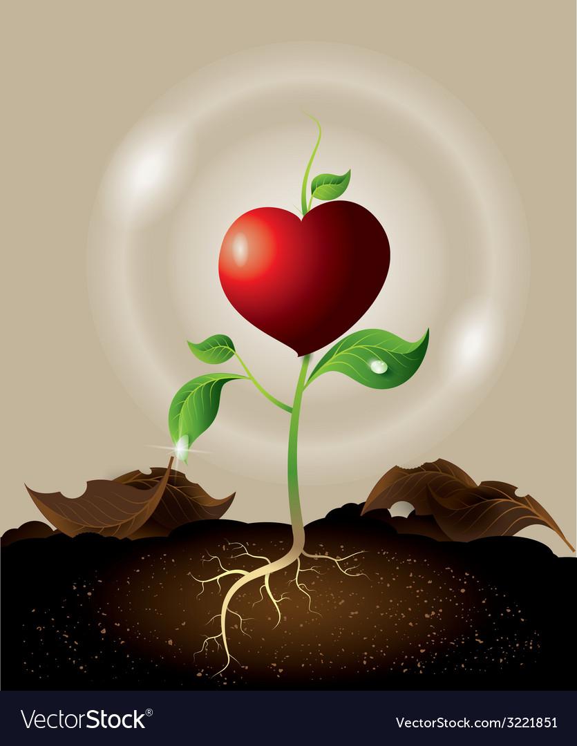 Heart tree vector | Price: 1 Credit (USD $1)