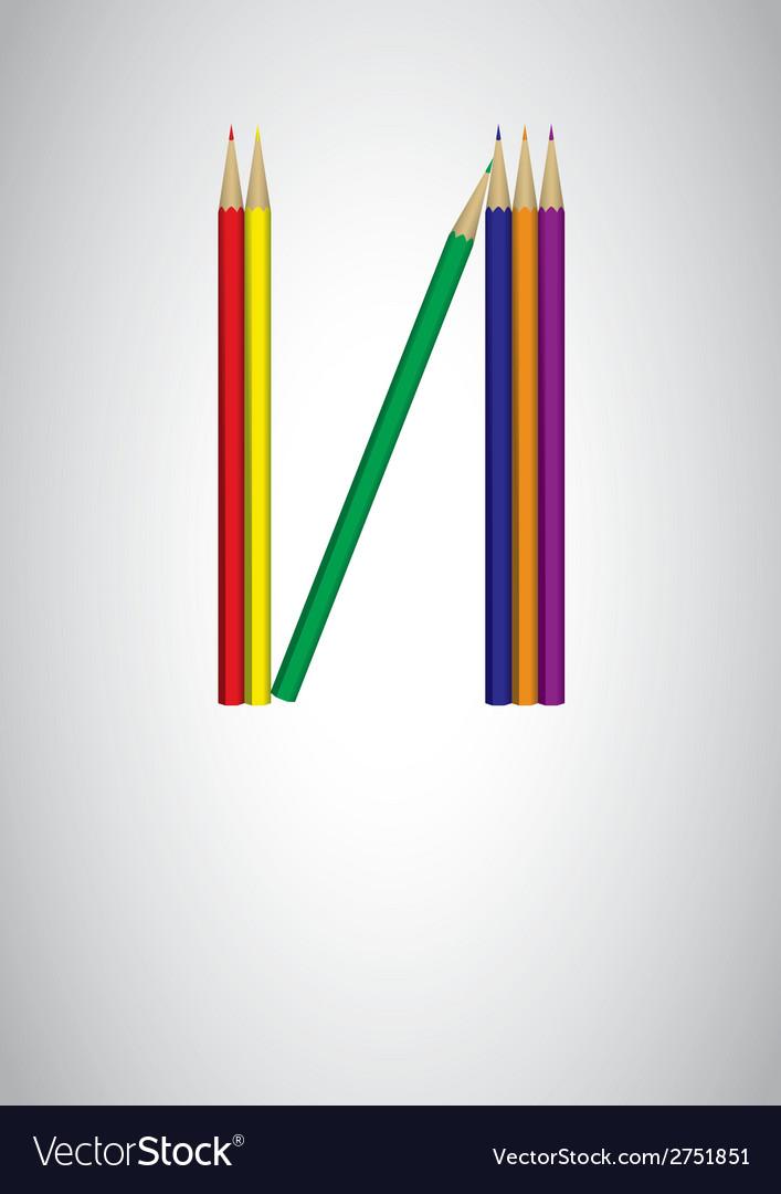 Pencil crayon poster - vector | Price: 1 Credit (USD $1)