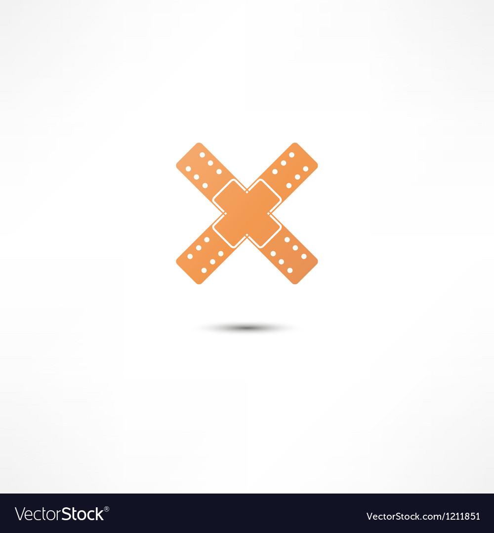 Plaster icon vector   Price: 1 Credit (USD $1)