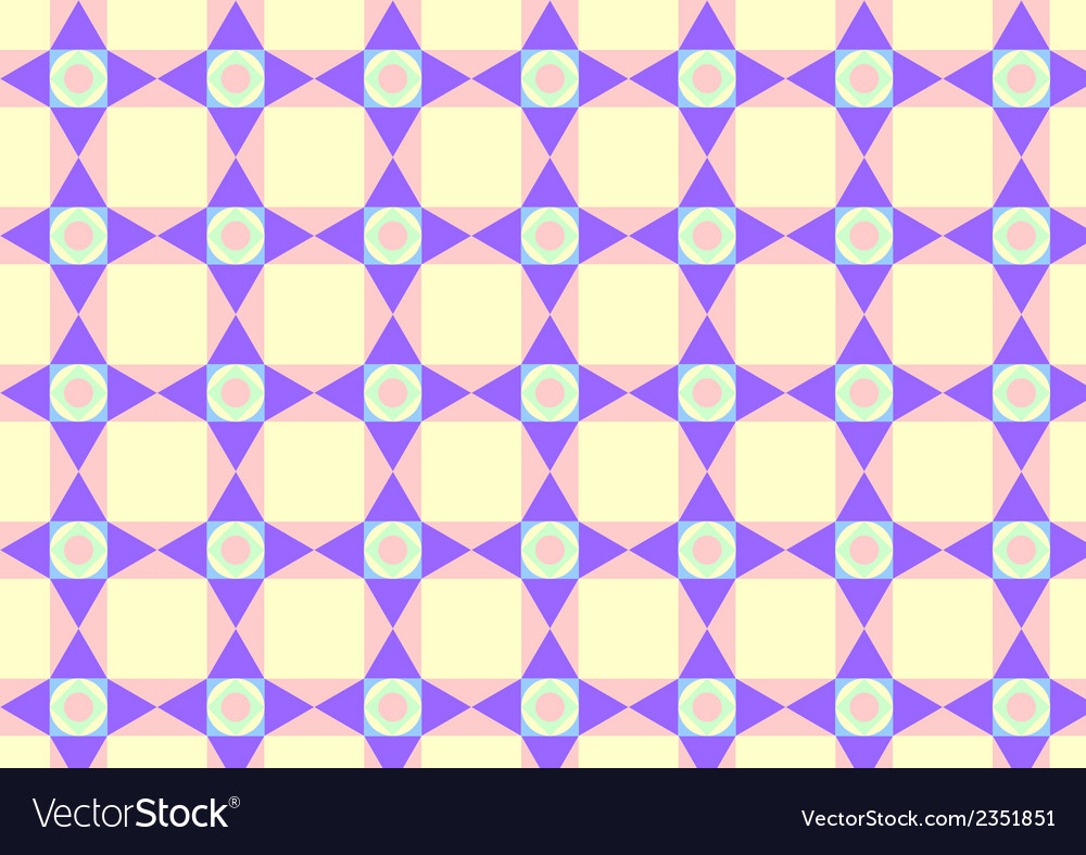 Triangle circle and quadrate pattern on pastel vector | Price: 1 Credit (USD $1)
