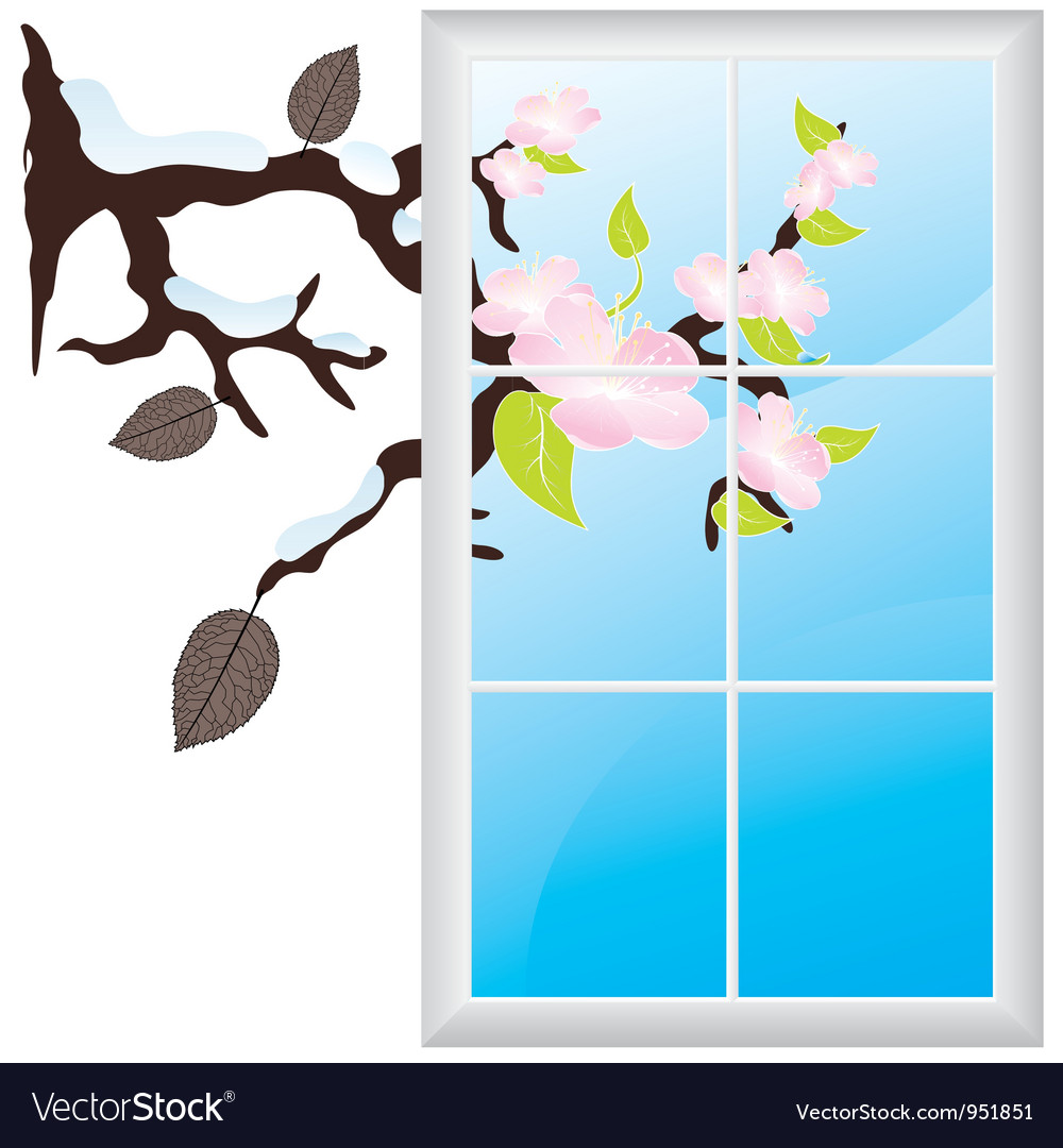 Window branch vector | Price: 1 Credit (USD $1)