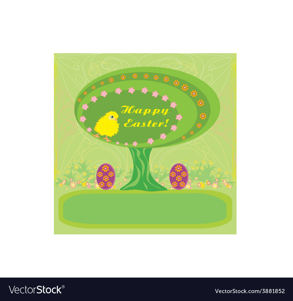 Abstract easter tree vector | Price: 1 Credit (USD $1)