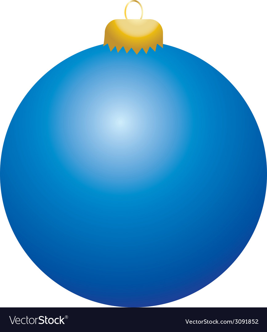 Blue ball ornament vector | Price: 1 Credit (USD $1)