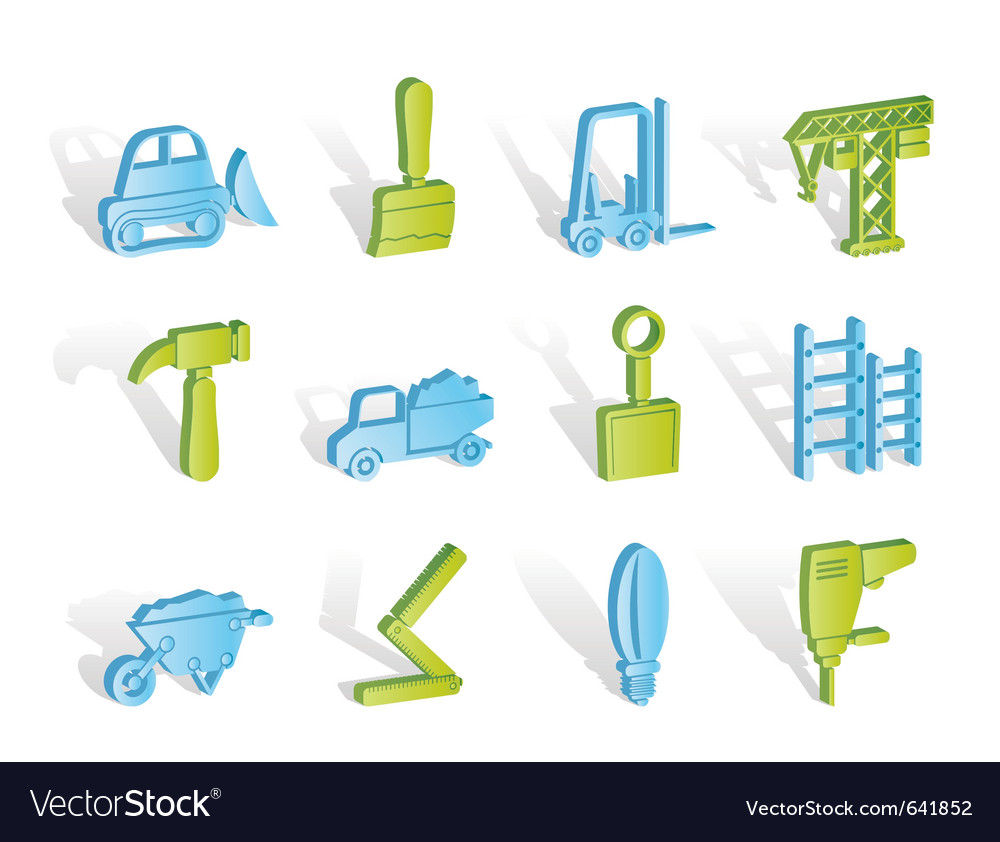 Building and construction equipment icons vector | Price: 1 Credit (USD $1)
