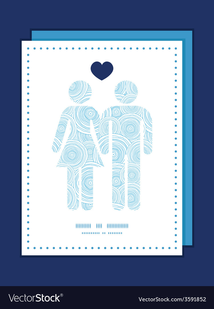 Doodle circle water texture couple in love vector | Price: 1 Credit (USD $1)