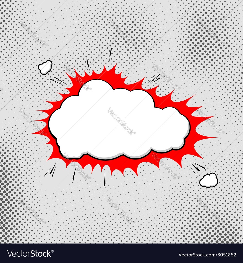 Explosion pop-art bubble template comic style vector | Price: 1 Credit (USD $1)