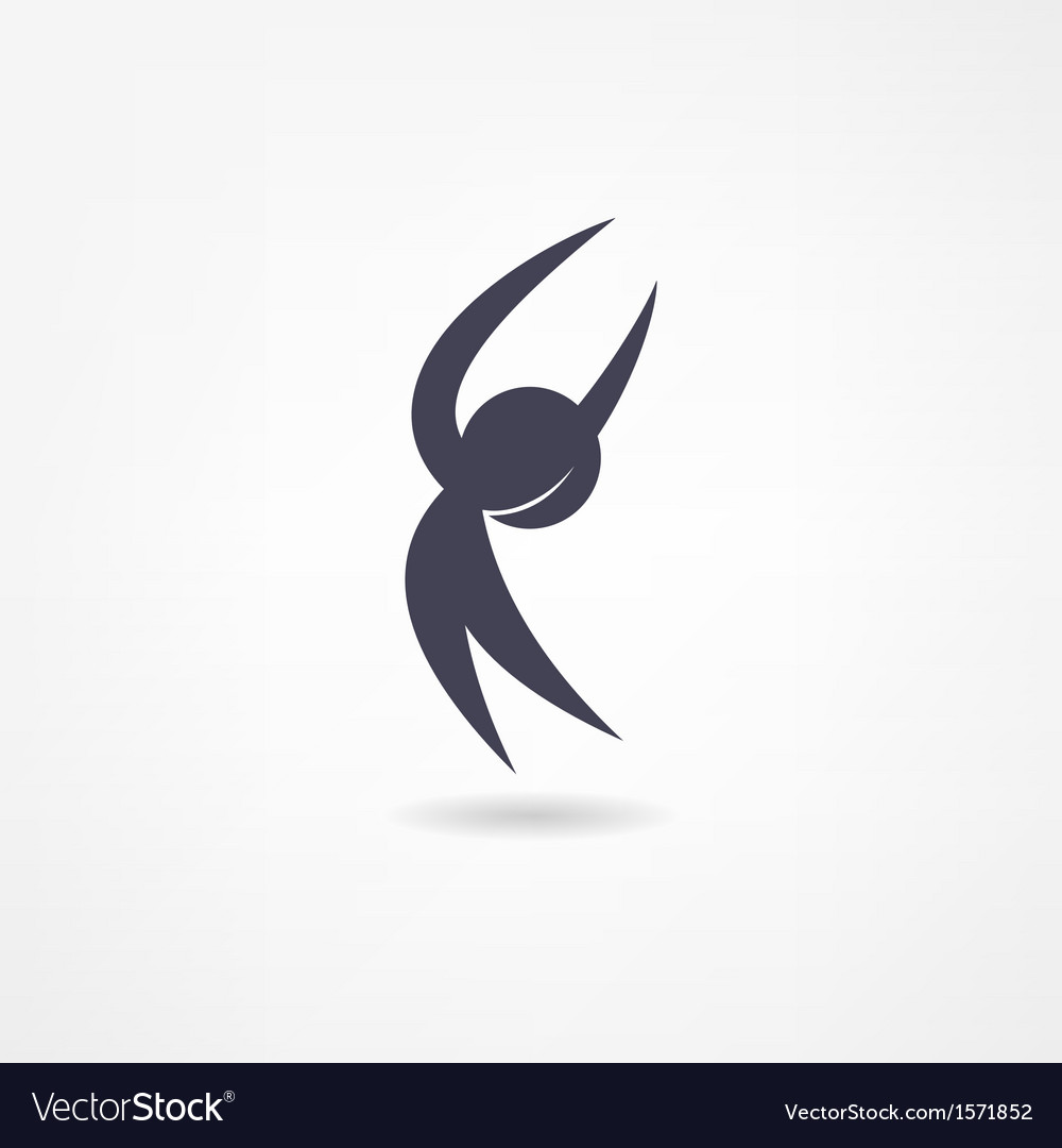 Gymnast icon vector | Price: 1 Credit (USD $1)
