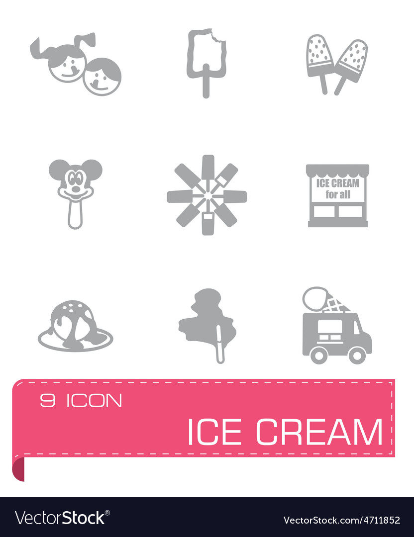 Ice cream icon set vector   Price: 1 Credit (USD $1)