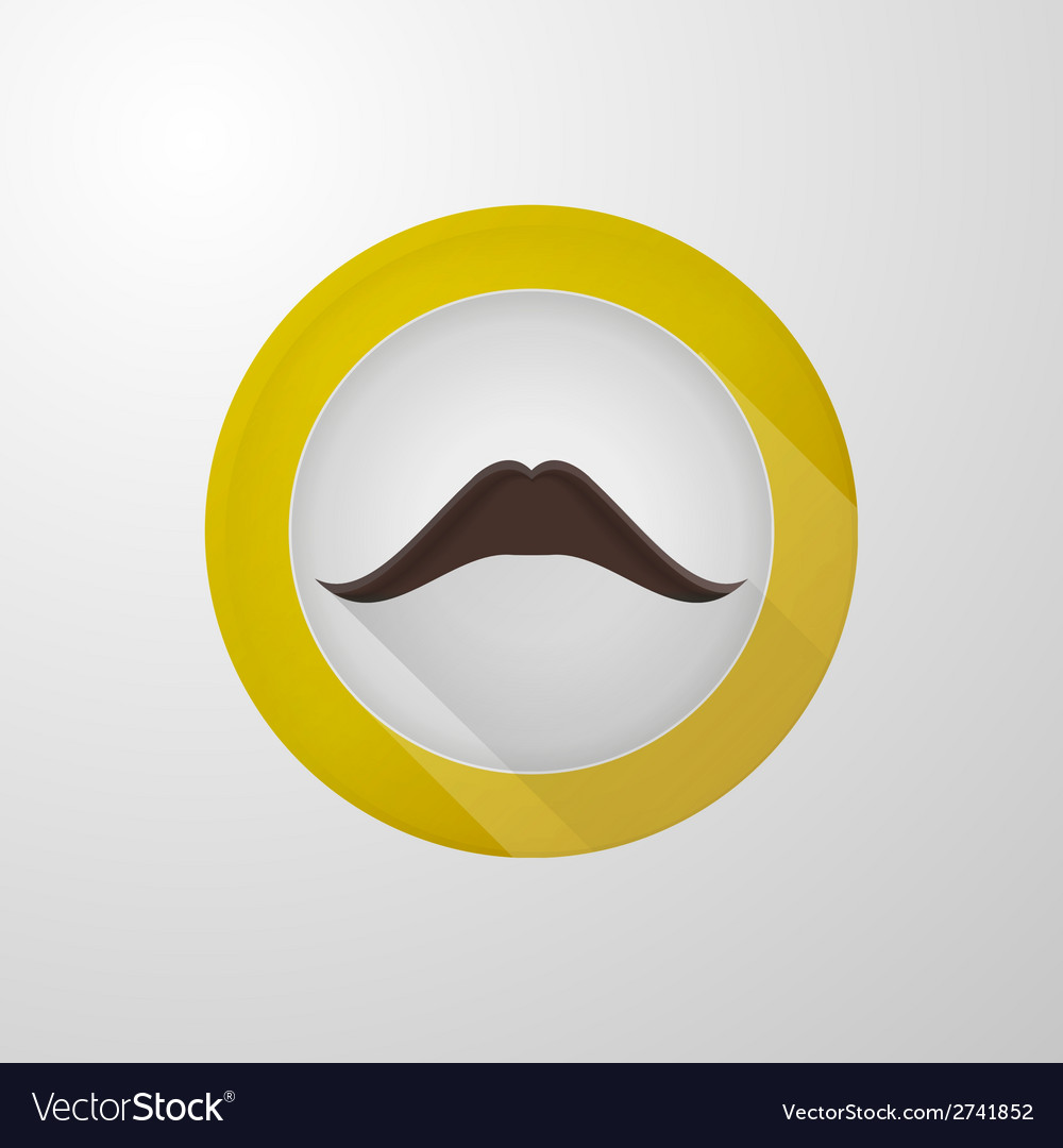 Icon for blog brown mustache vector | Price: 1 Credit (USD $1)