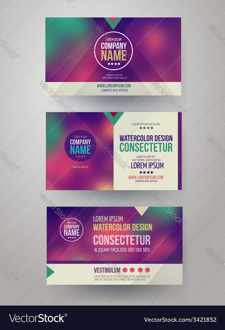 Identity templates with blurred abstract vector | Price: 1 Credit (USD $1)