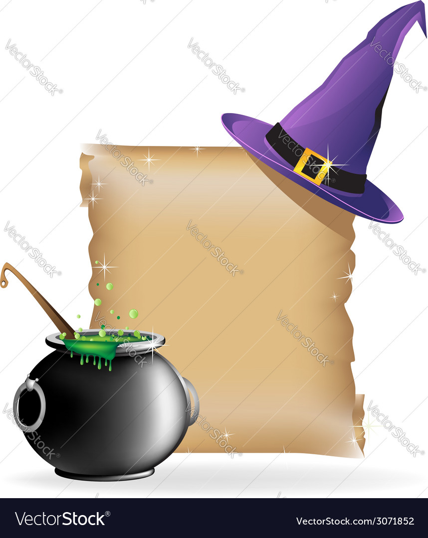 Magic hat and boiling cauldron vector | Price: 1 Credit (USD $1)