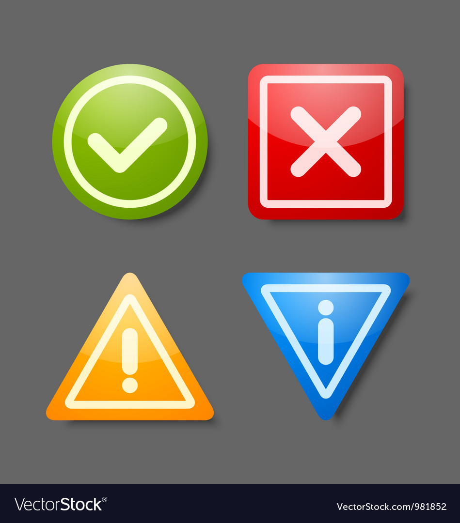 Notification icons vector | Price: 3 Credit (USD $3)