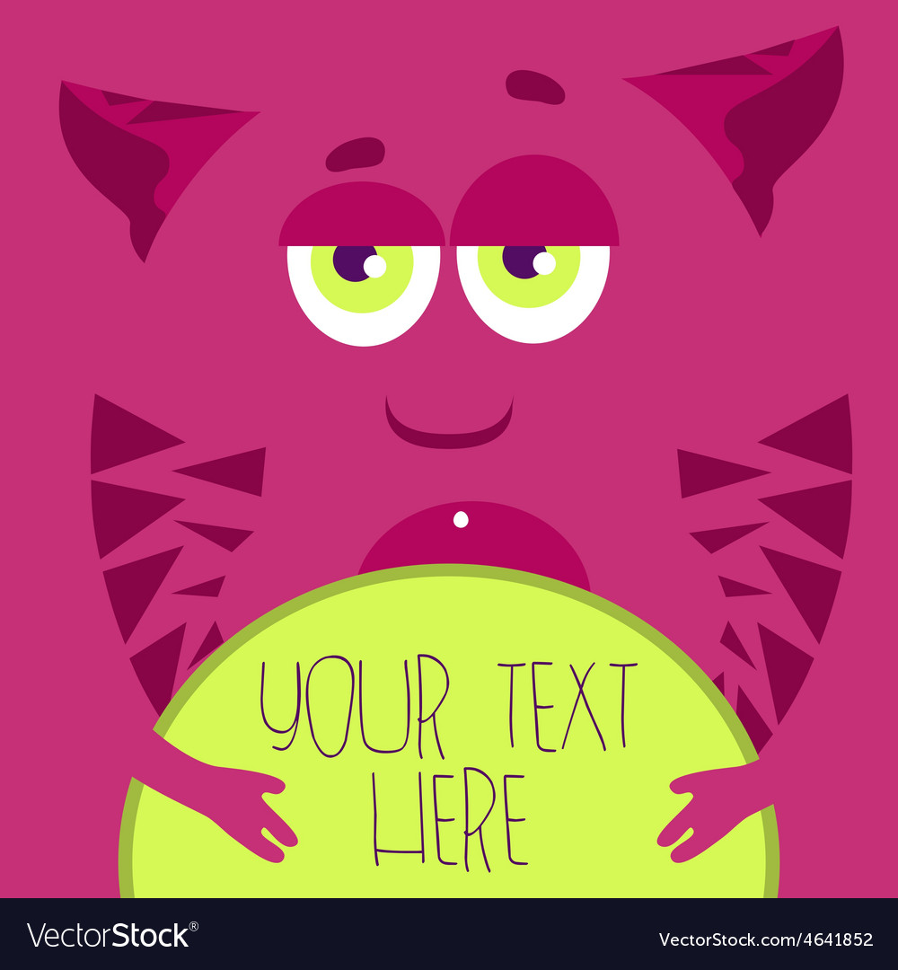 Pink monster vector | Price: 1 Credit (USD $1)