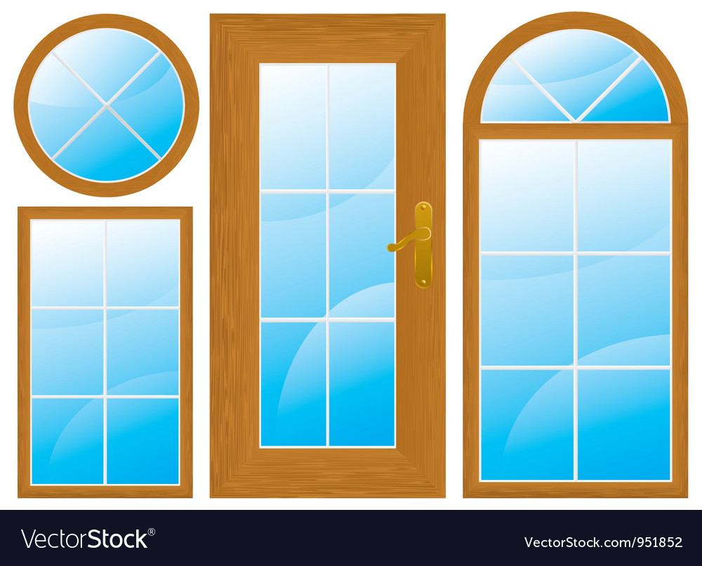 Window door vector | Price: 1 Credit (USD $1)