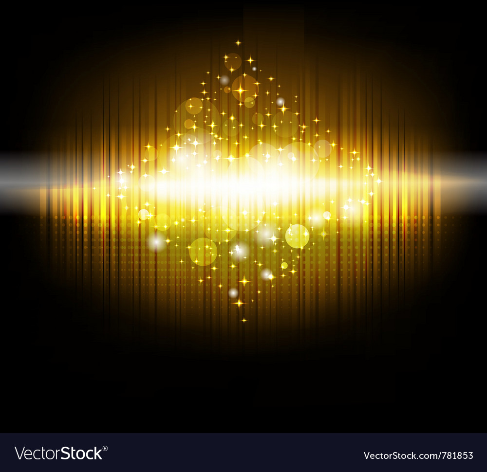 Abstract christmas tree in golden color vector | Price: 1 Credit (USD $1)