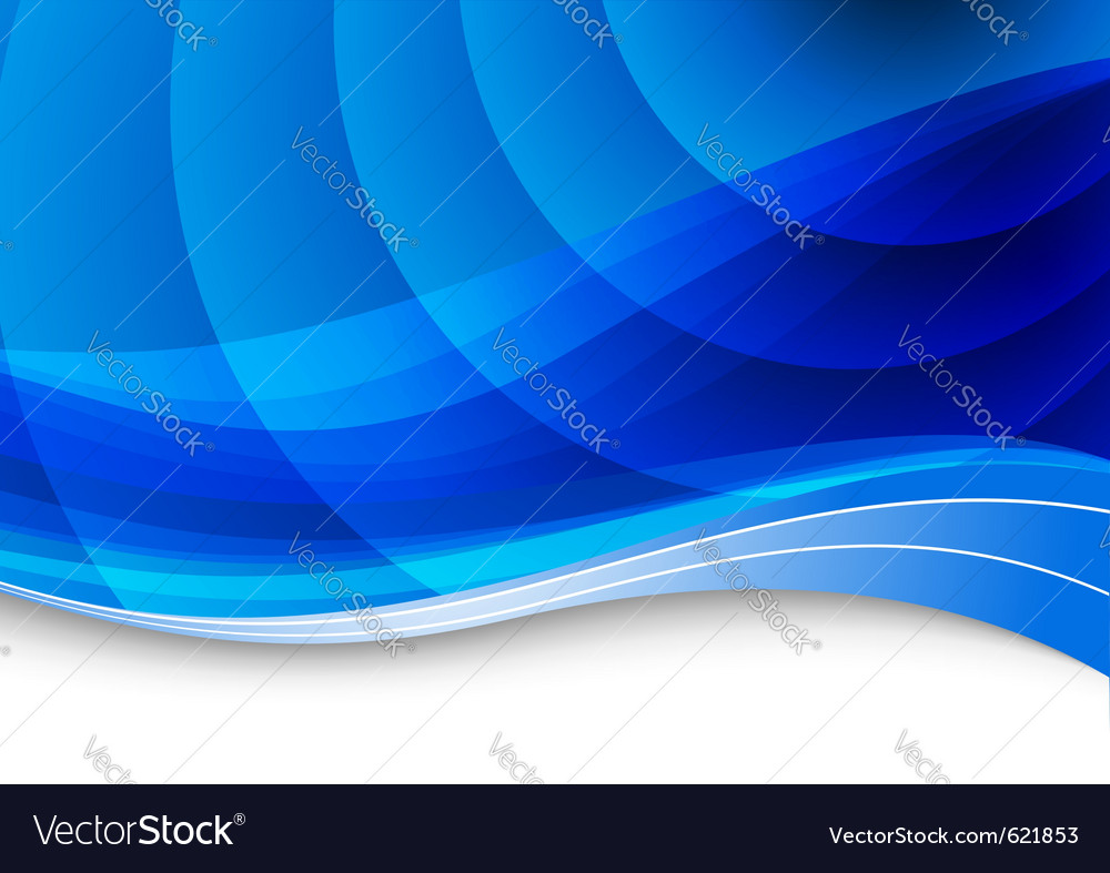 Blue waves background vector | Price: 1 Credit (USD $1)