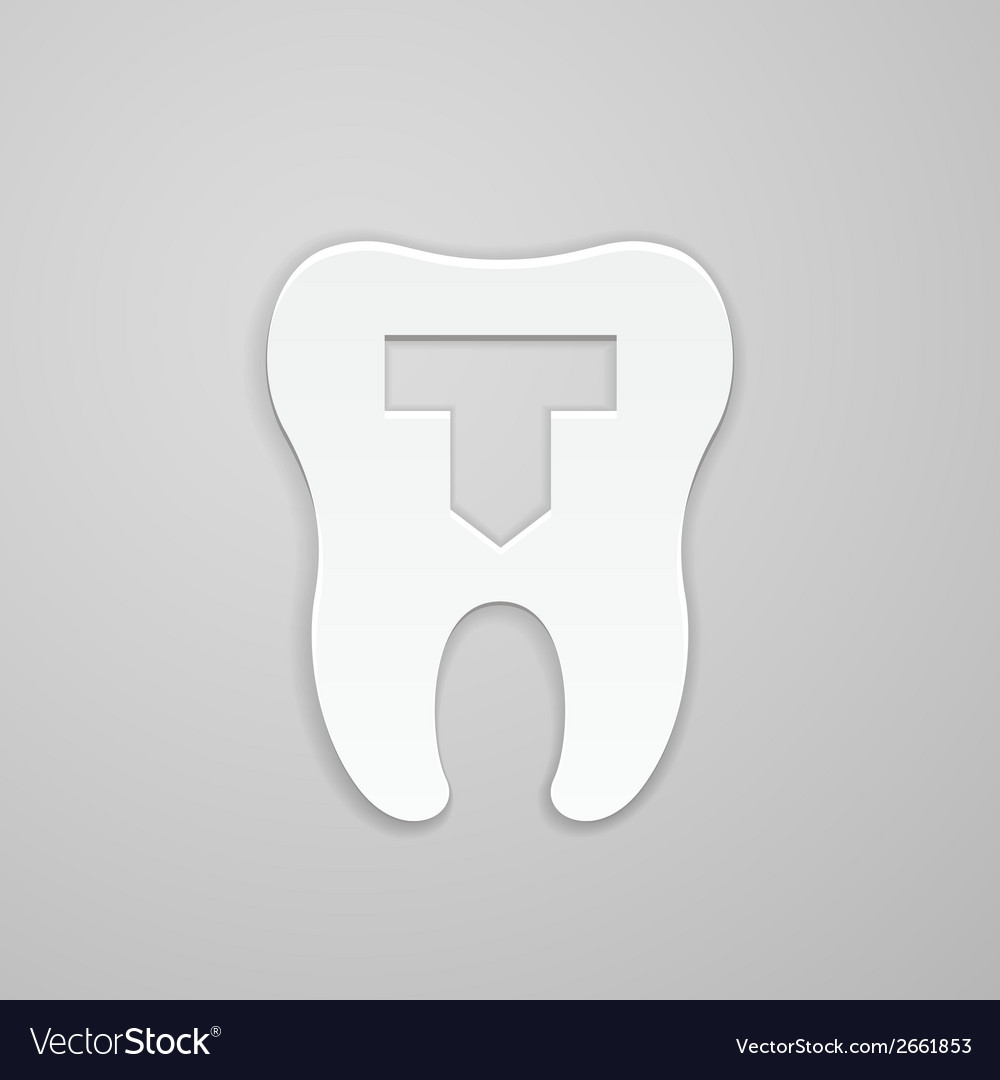 Dental emblem vector | Price: 1 Credit (USD $1)