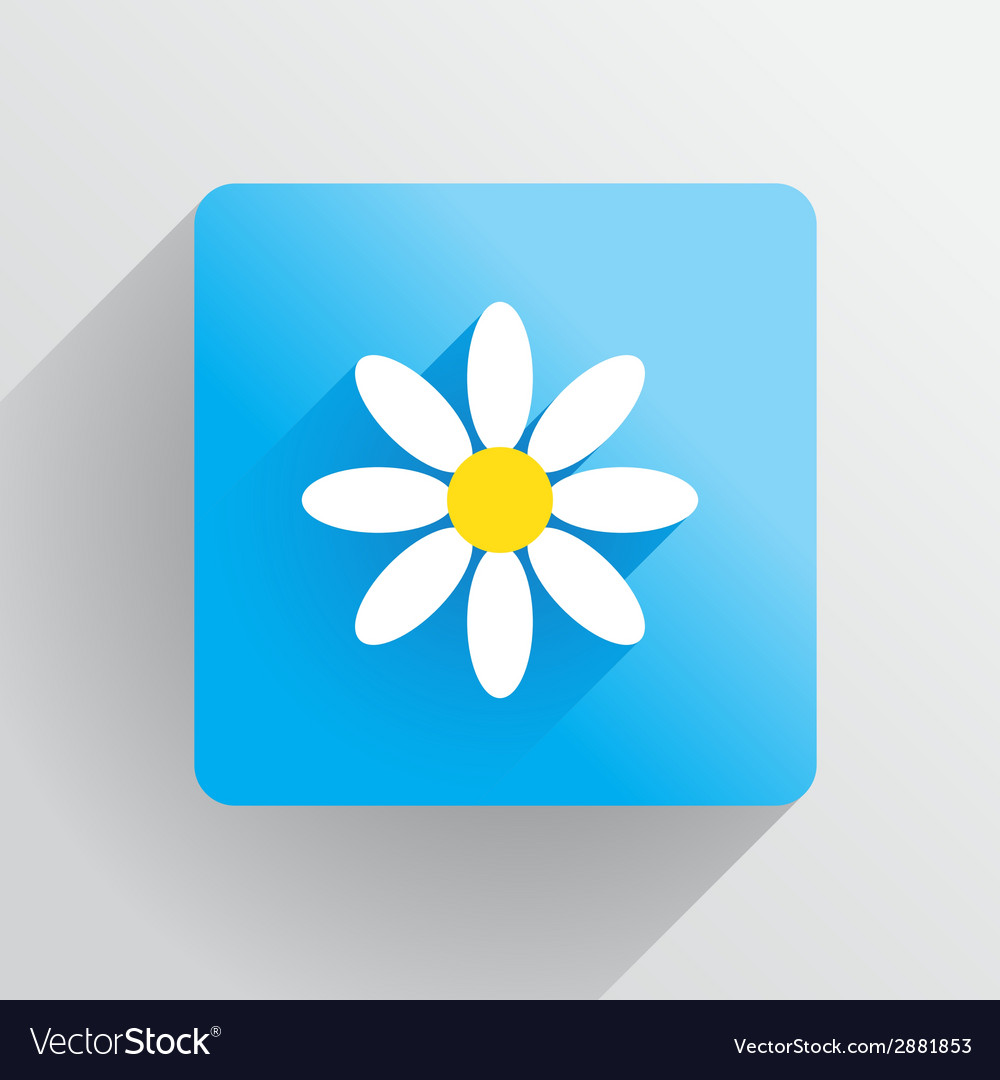 Flower flat vector | Price: 1 Credit (USD $1)