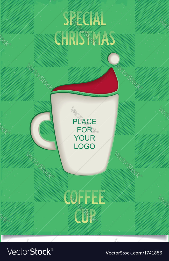 Joke christmas coffee cup vector | Price: 1 Credit (USD $1)