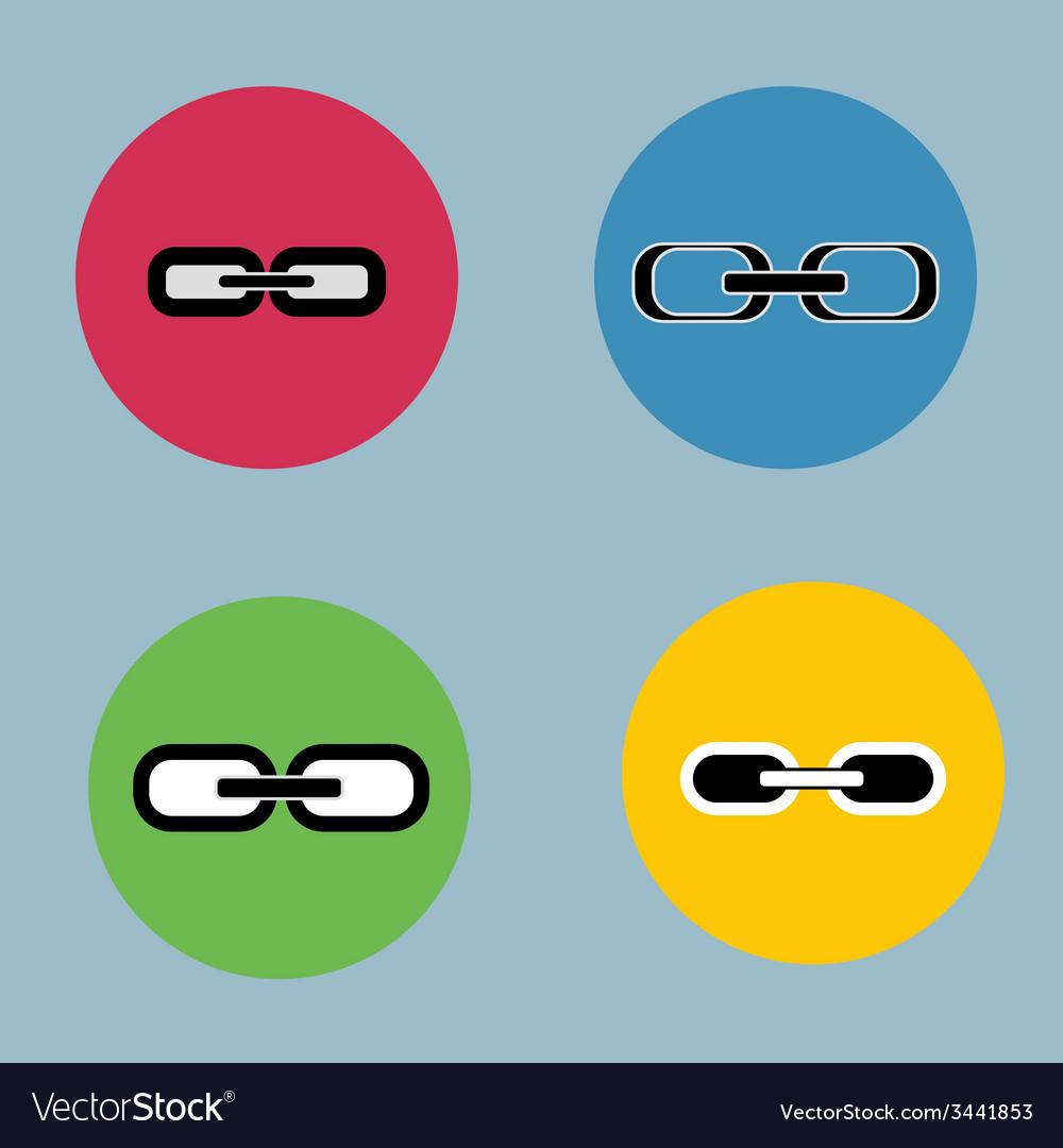 Links set flat design retro vintage colors vector   Price: 1 Credit (USD $1)