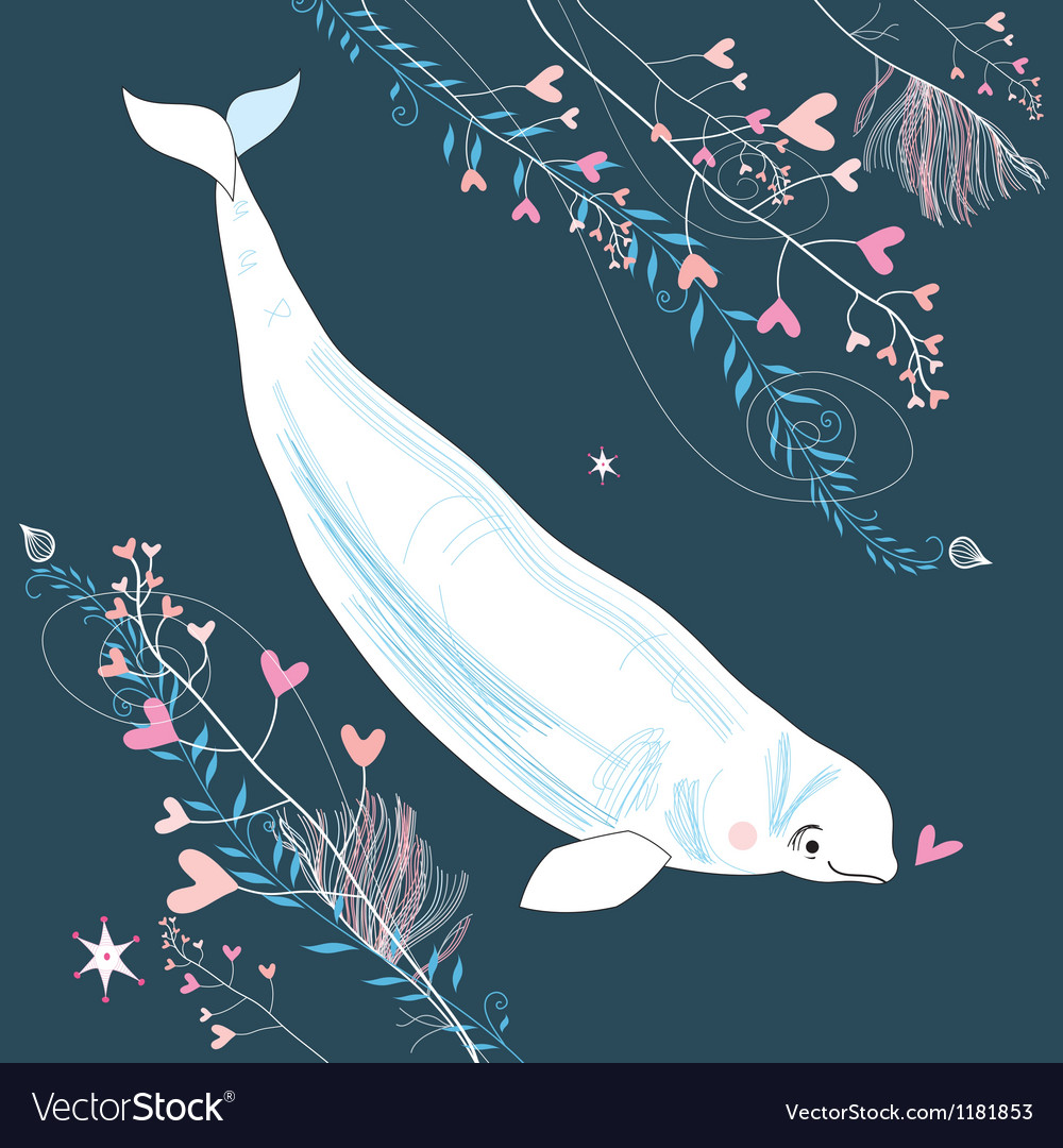 Love whale vector | Price: 3 Credit (USD $3)