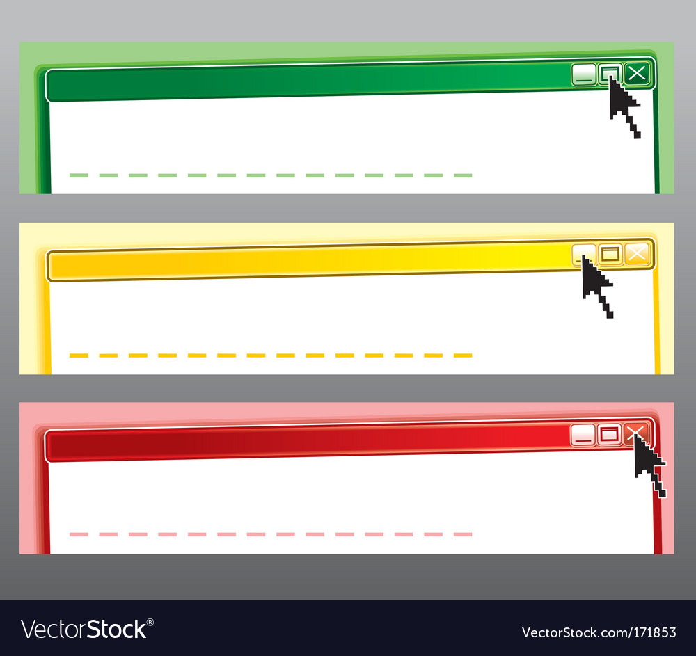 Message banners vector | Price: 1 Credit (USD $1)