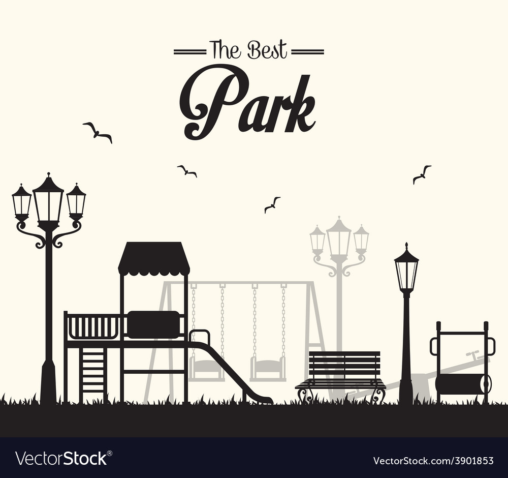Park design over white background vector | Price: 1 Credit (USD $1)