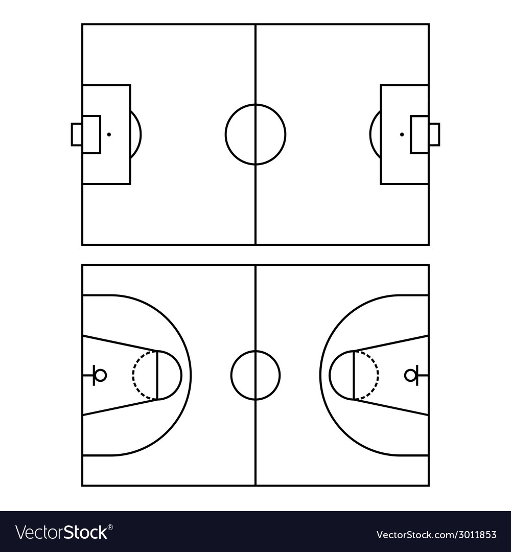 Soccer and basketball fields vector | Price: 1 Credit (USD $1)