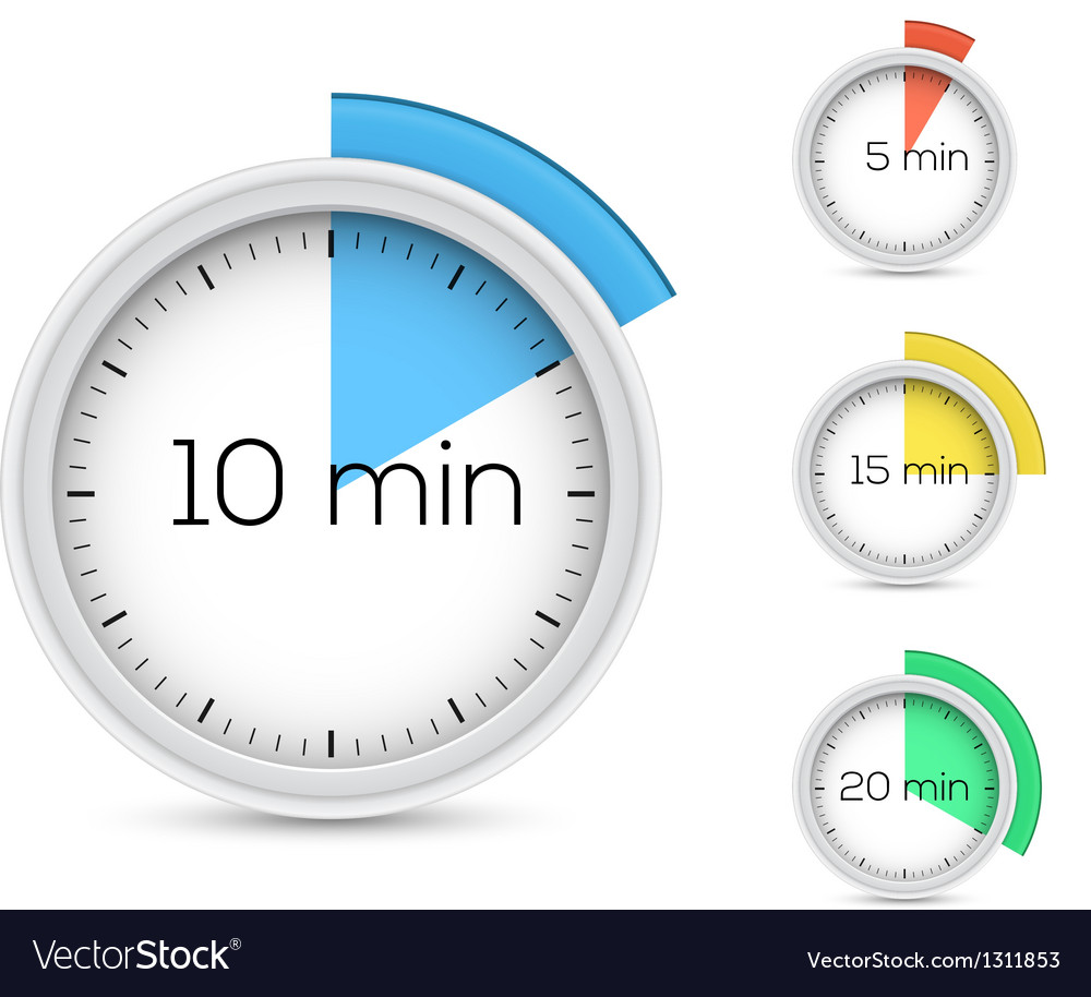 Timers collection vector | Price: 3 Credit (USD $3)