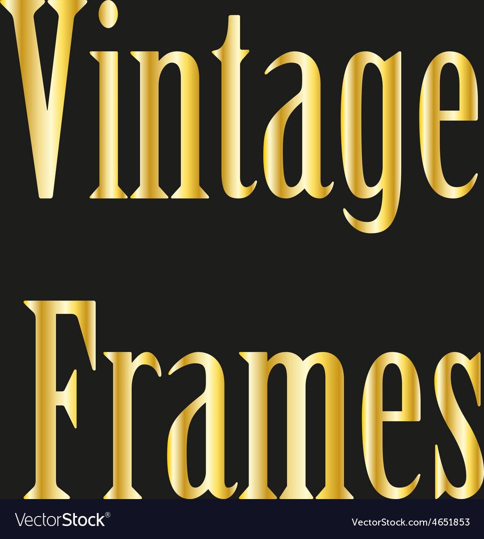 Vintage golden frames collection vector | Price: 1 Credit (USD $1)