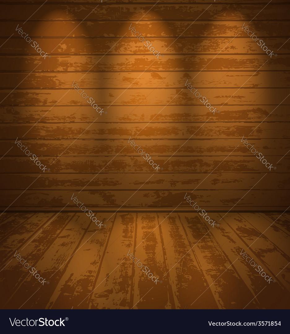Empty wooden room vector | Price: 1 Credit (USD $1)