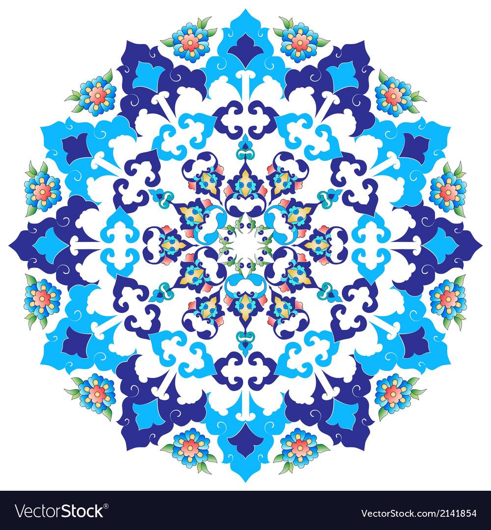 Ottoman art flowers thirteen vector | Price: 1 Credit (USD $1)