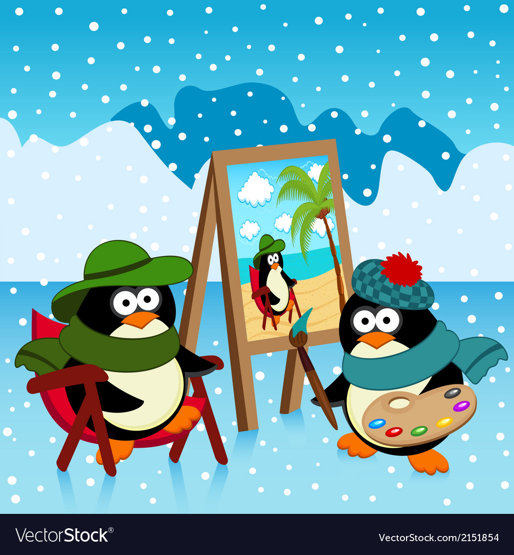 Penguin artist fantasy vector | Price: 1 Credit (USD $1)