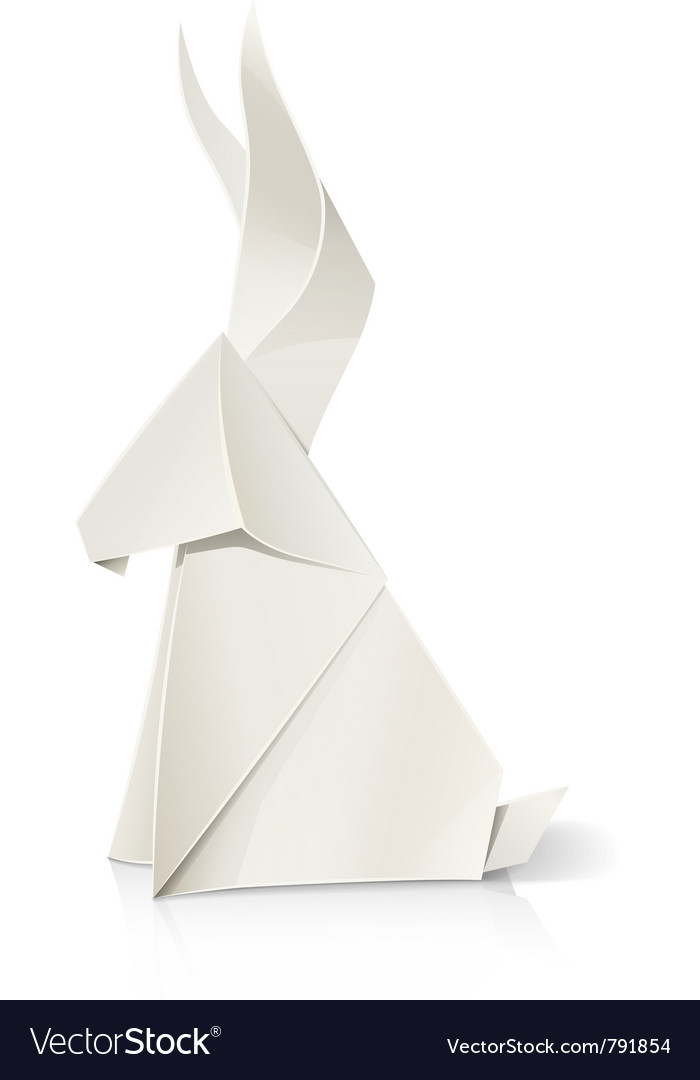 Rabbit paper origami toy vector   Price: 3 Credit (USD $3)
