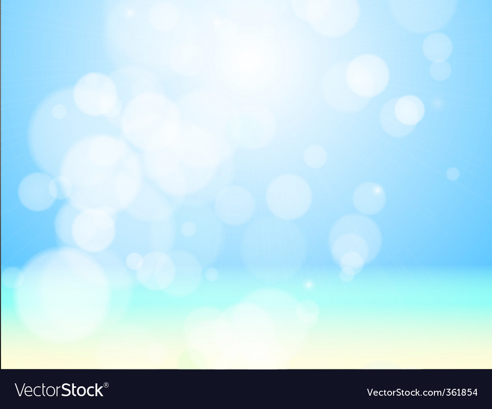 Sea beach bokeh vector | Price: 1 Credit (USD $1)